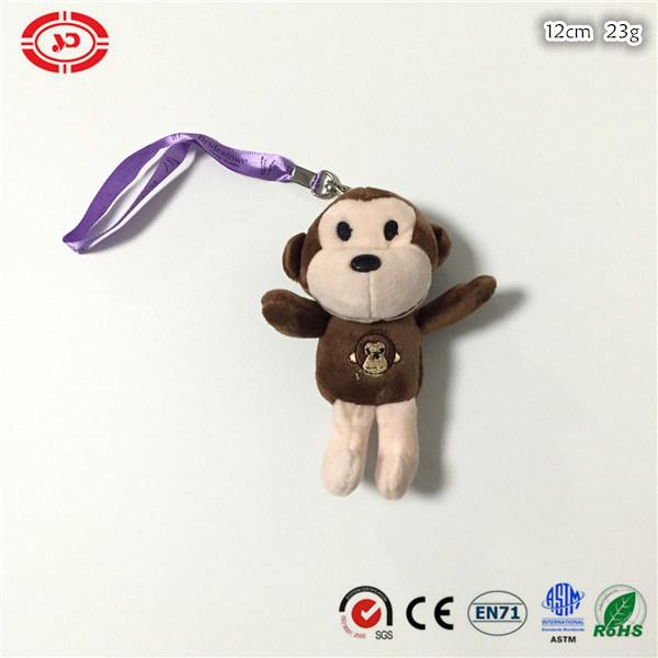 Grey Fancy Soft Stuffed Plush Cute Monkey Hotsale Toy Keychain