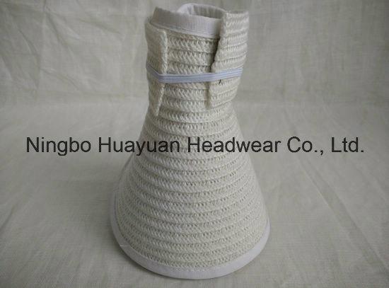 100% Polyester Sewn Braid Visors