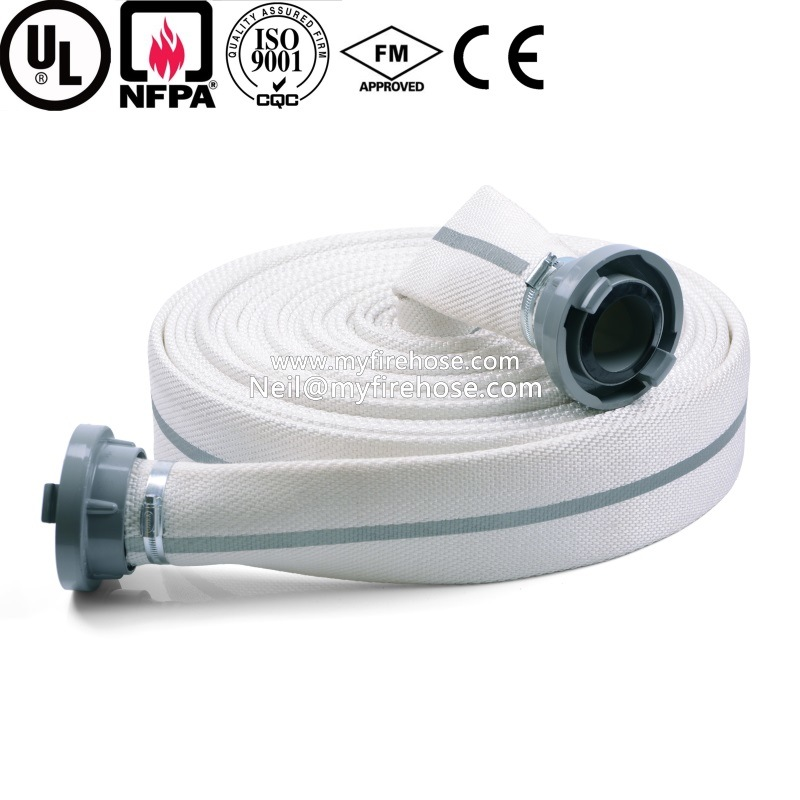 2 Inch Double Jacket Cotton Ageing Resistance of PU Canvas Fire Hose