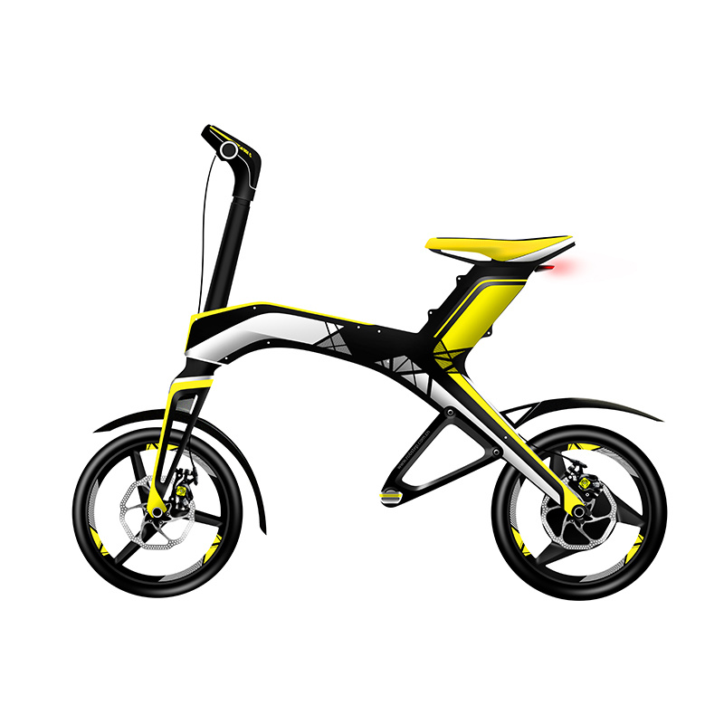 300W 48V Brushless DC Motor Mobility Foldable Balance Electric Bike (SZE300B-1)