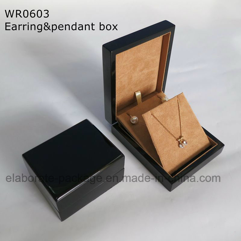 Factory Hand Crafted Black Glossy Painting Jewelry Box