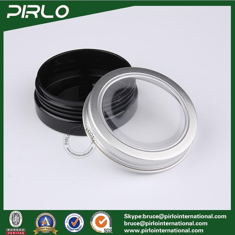 30ml Black Color Plastic Jar with Metal Cap Skin Care Cream Jar 30g Cosmetic Plastic Jar