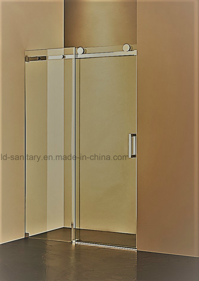 HR-P031 Heavy-Duty Square Stainless Steel Sliding Rod Shower Enclosure