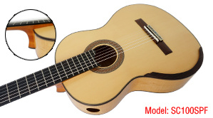 Aiersi Smallman Guitar with Flame Maple Back and Side (SC100SPF)
