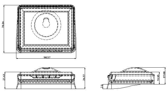 3.5inch Digital LED LCD Car Rear View Backup Monitor
