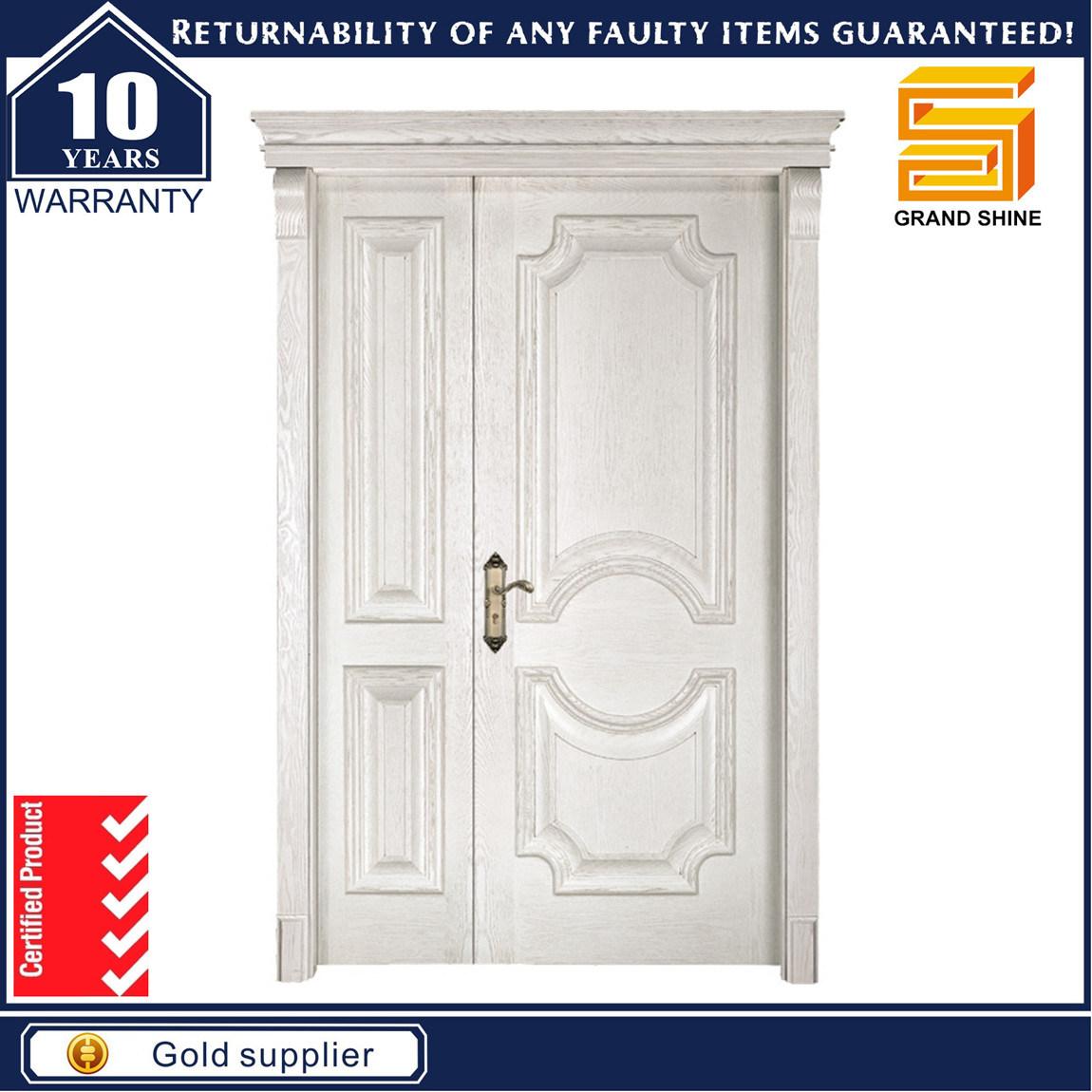 Exterior/Interior Fire Wood Veneer Composite Panel Wooden Door
