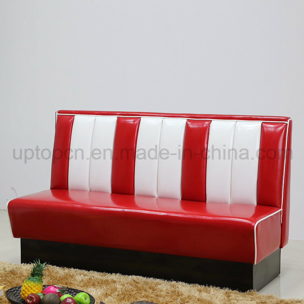 1950s American Style Restaurant Booth PU Leather Sofa (SP-KS269)