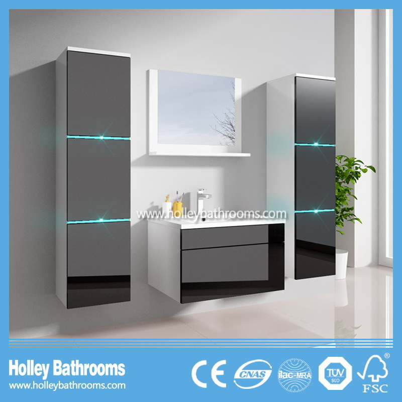 The New LED Light Touch Switch High-Gloss Paint MDF Furniture Bathroom Cabinet (B796D)