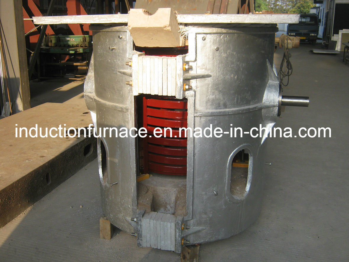 Gwc Medium Frequency Induction Bronze Melting Furnace with Steel Shell