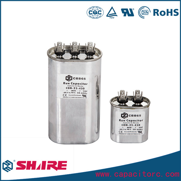 AC Motor Run Air Conditioner Cbb65 Capacitor Dual Capacitor