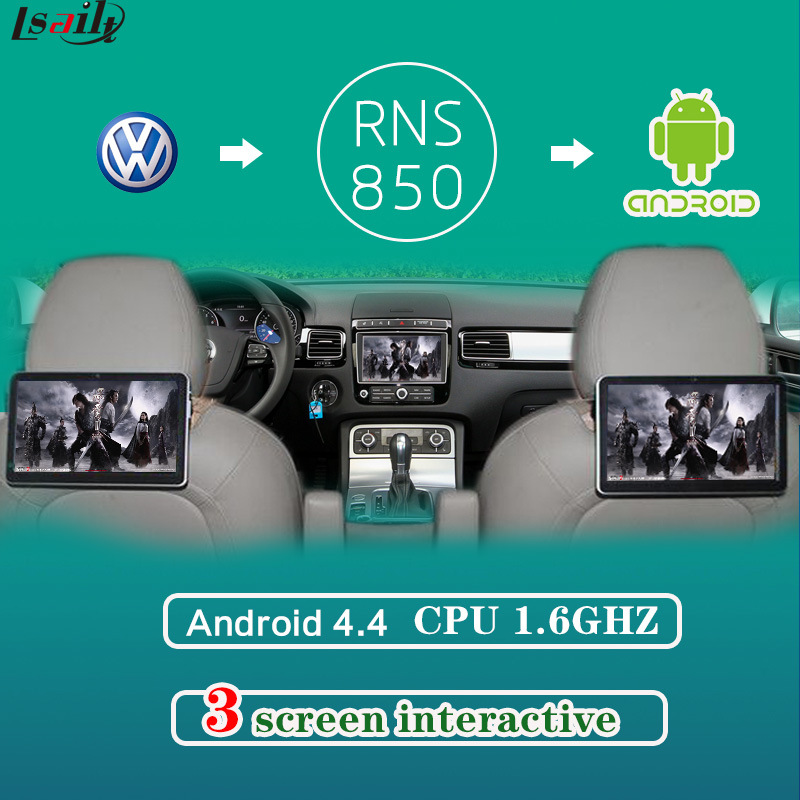 Headrest Monitor Multimedia Video Interface for VW Golf 7 with Android Navigaiton Built-in Bluetooth, WiFi, Bt