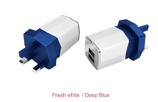 15.5W UK EU Us Plug Dual USB Travel Charger for Smart Phones