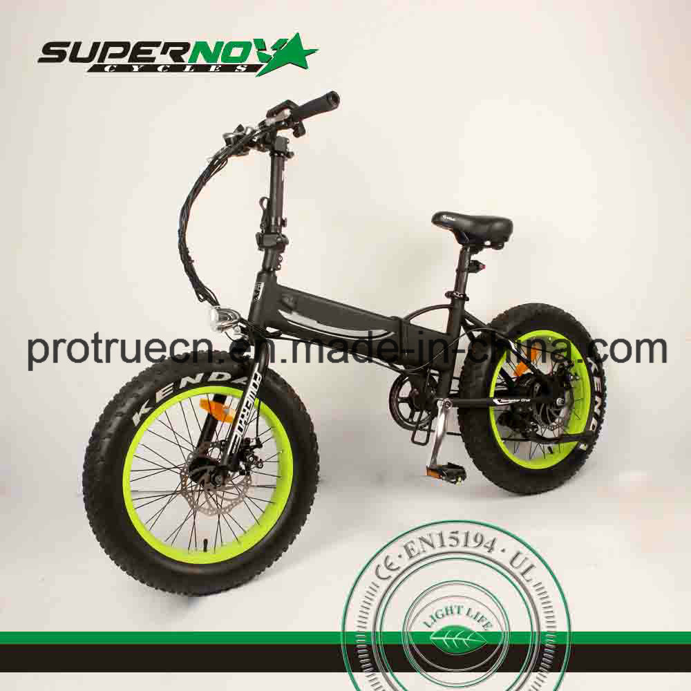 Fat Tire Folding Electric Bicycle with 8fun Motor
