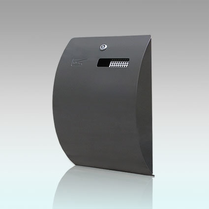 Self-Extinguishing Weather- & Theft-Proof Wall-Mounted Cigarette Bin, Gh-C21s-P