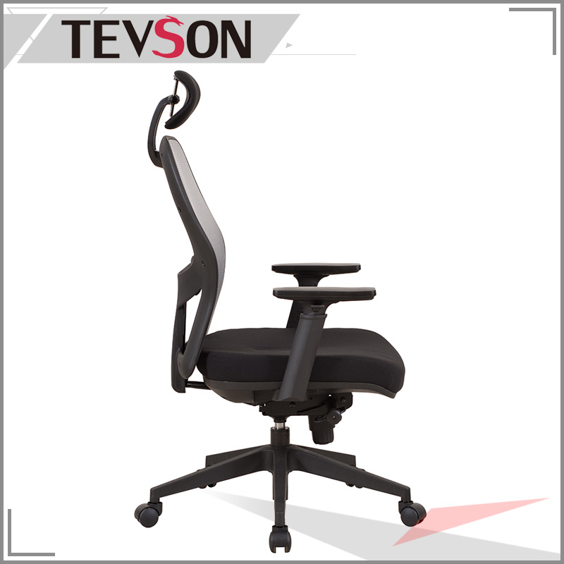 High Back Office Chair with Mesh Back and Soft Headrest & Seat Bag