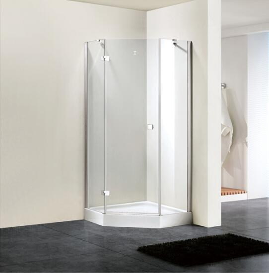 Shower Enclosure 8mm Glass Diamond Hinge Door Shower Door (BN-HDD90)