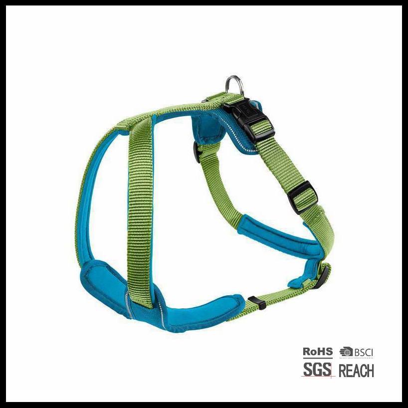 Custom Soft Comfy Reflective Safety Nylon Padded Pet Dog Harness