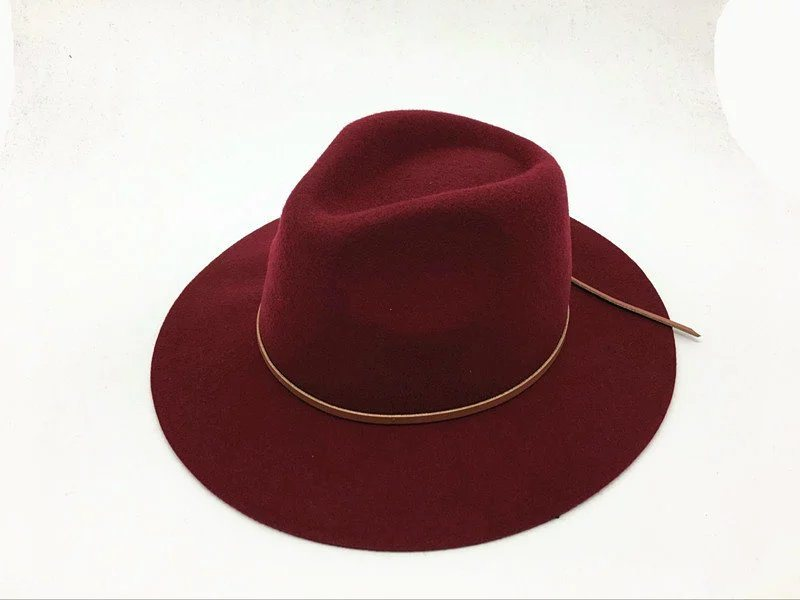 Winter Hot Selling Wool Wide Brim Man Cap Hat