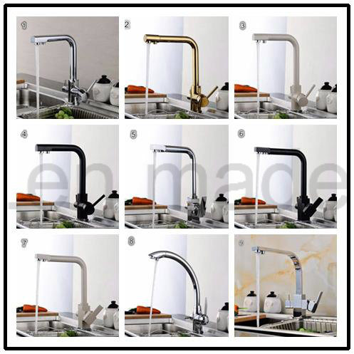 New Style Chrome Plated 3 Ways RO Kitchen Faucet