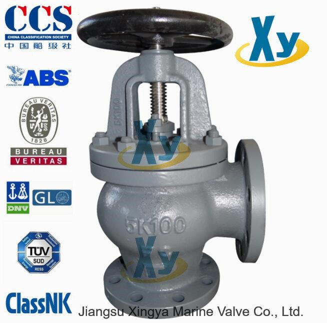Marine Cast Steel Angle Valve Sdnr Valve JIS F7312 5k