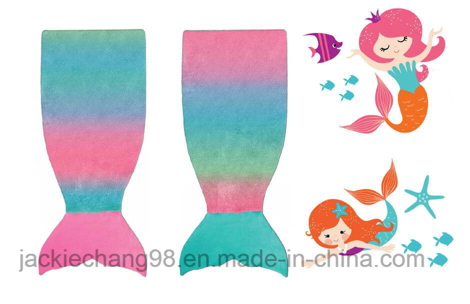 Multi-Colour Printed Little Mermaid Blanket