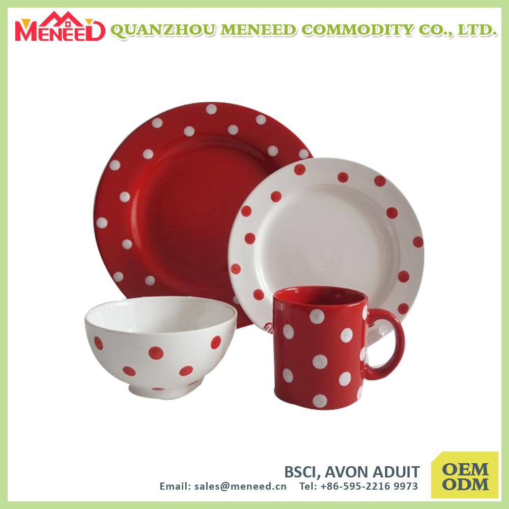 Modern Family Use Different Design Porcelain Like 4PCS Dinner Set