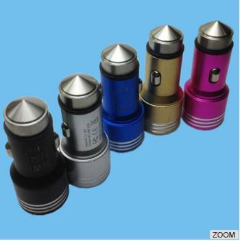 Reasonable Price Durable Colorful Metal USB Car Charger