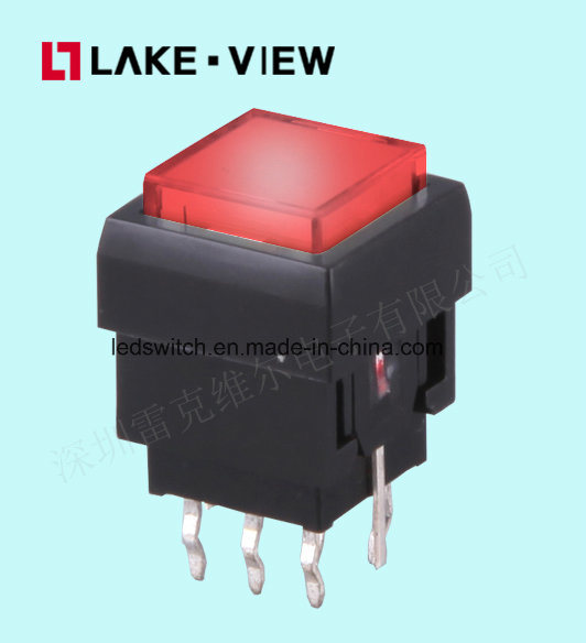 Audio Video Pushbutton Switch with on off Actuator Illuminated for All Broadcast Panel Needs