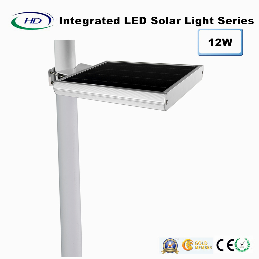 12W PIR Sensor Integrated LED Solar Garden Light