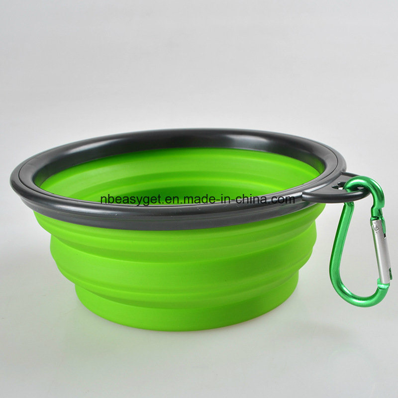 Travel Dog Bowl, Silicone BPA Free Foldable Pet Supplies Collapsible Pet Food Water Feeding Bowl for Dog & Cat