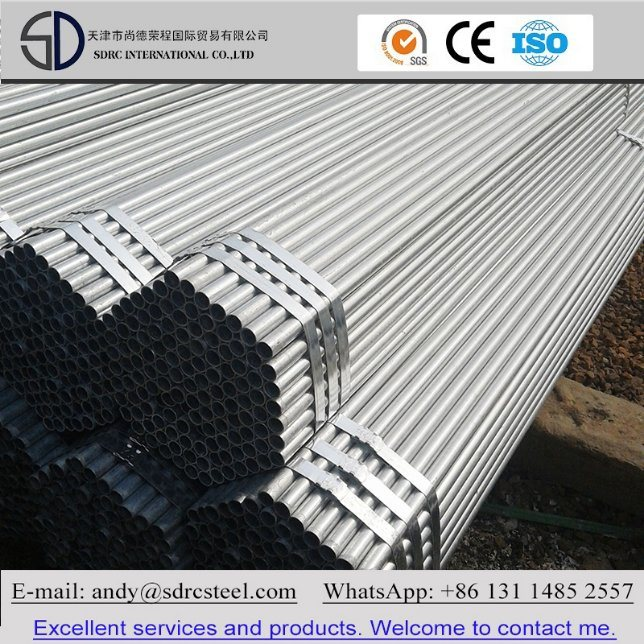 ERW Pre-Galvanized Steel Pipe for Building