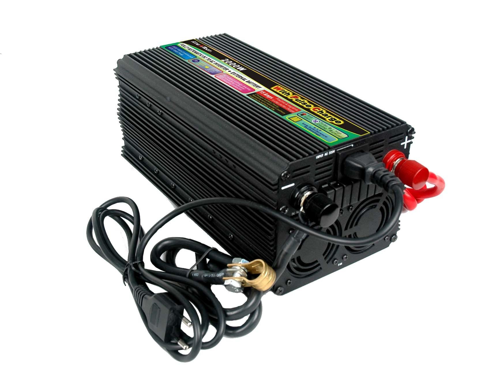 Power inverter for battery