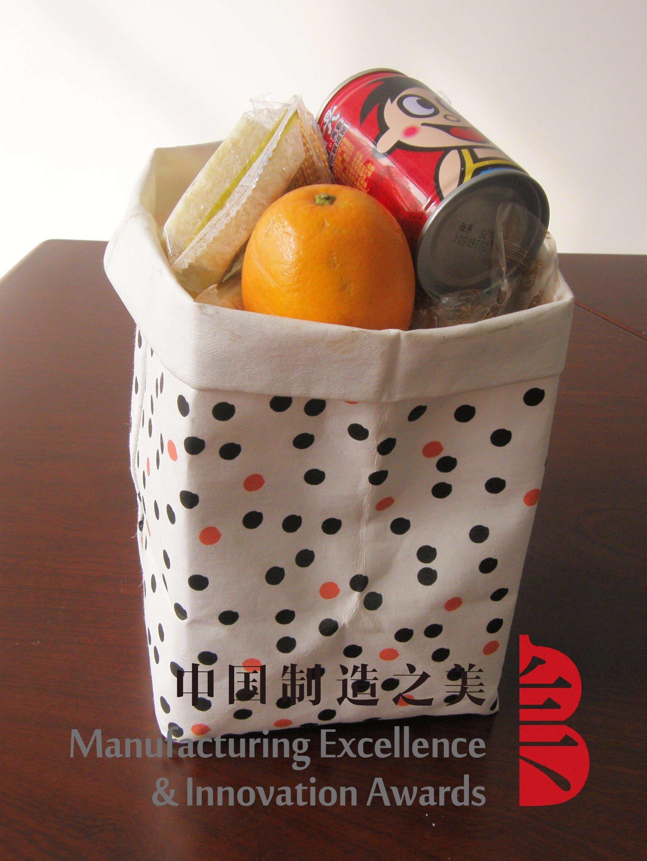 Washable Kraft Paper Bag Grocery Storage Basket Stationary
