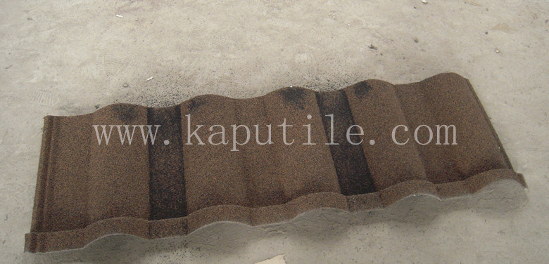 Roman Coated Metal Roof Tile 1320*420*0.4mm (Al-Zn steel)