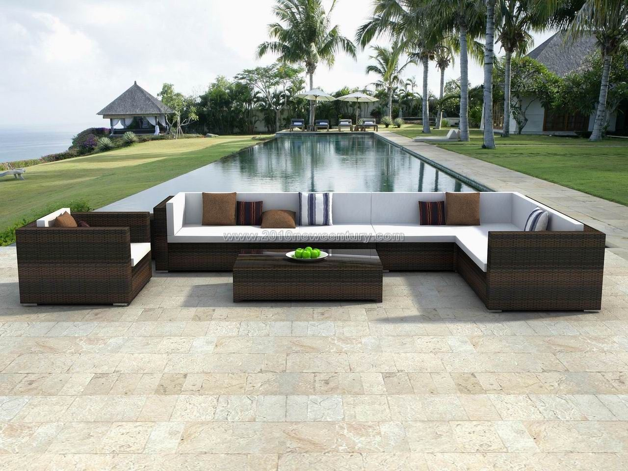 China wicker furniture outdoor furniture rattan for Outdoor pool furniture