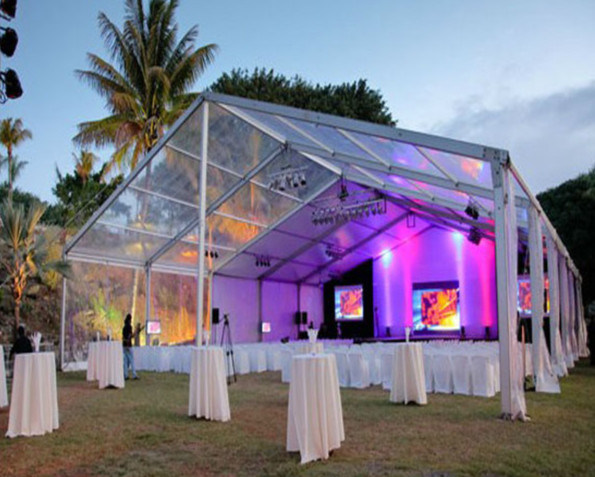 Well-Decorated Transparent Wedding Party Tent (15m*40m) for 500 Seaters (ML-018)