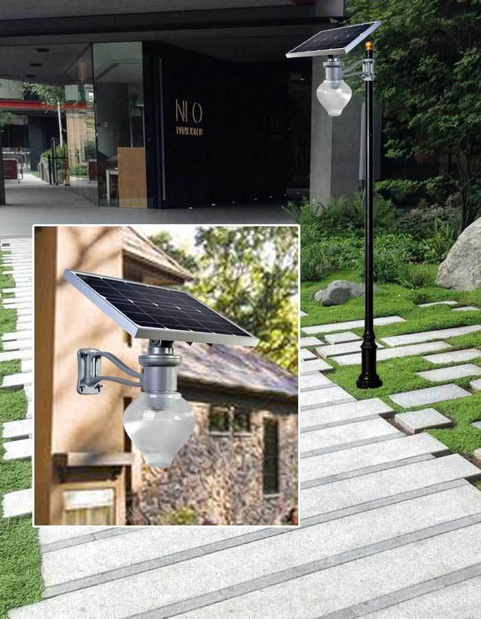 Factory Price Solar Powered Garden Lamp / Courtyard Light