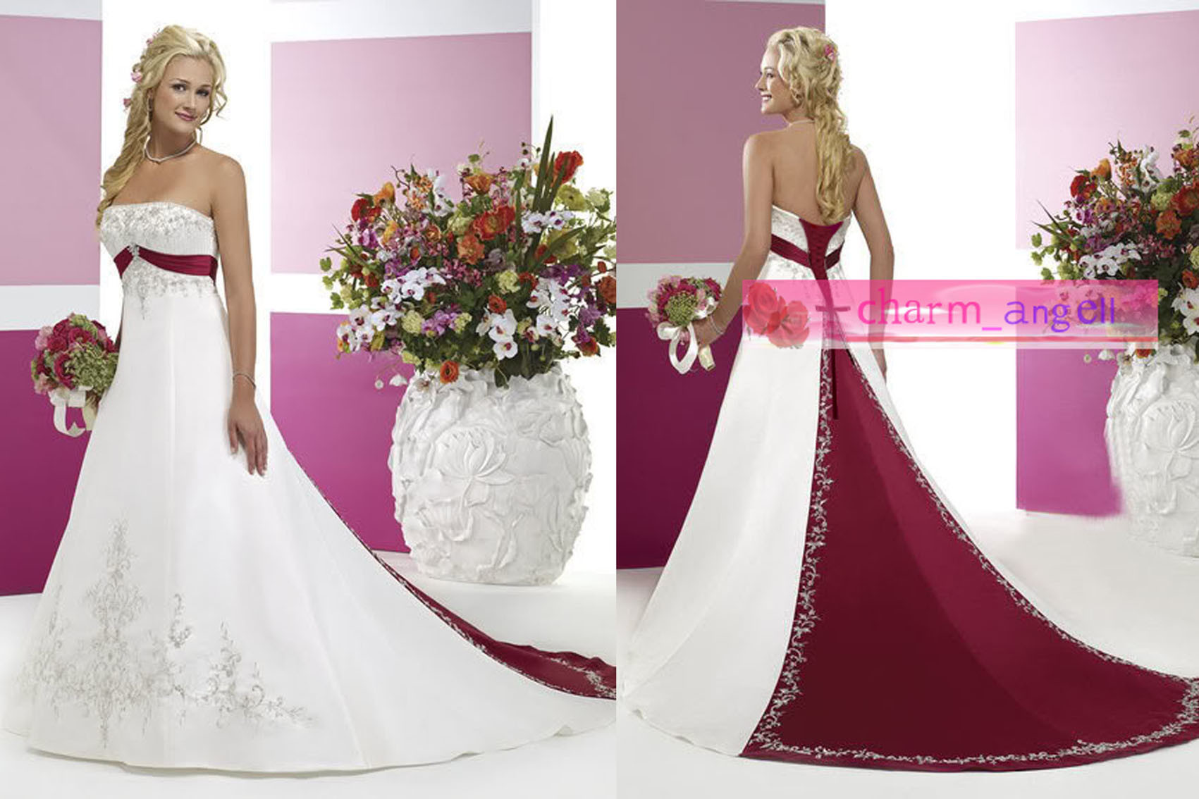 white and maroon wedding dresses burgundy wedding dresses White And Maroon Wedding Dresses 7