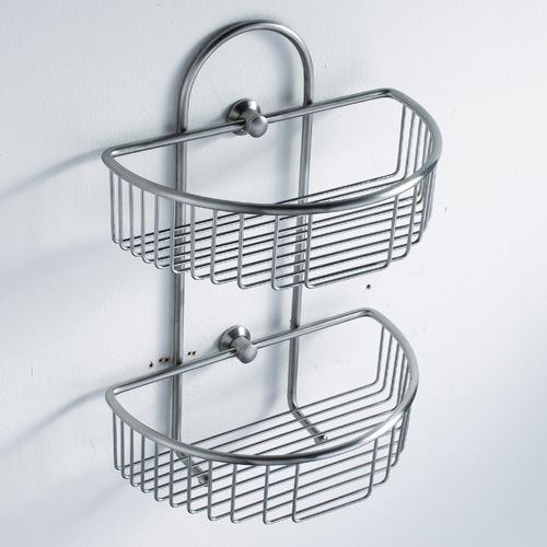 Bathroom accessories basket double bathroom basket 8009a for Basket bathroom accessories
