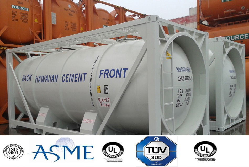 23000L Tank Container for Cement, Mineral Approved by Lr, ASME