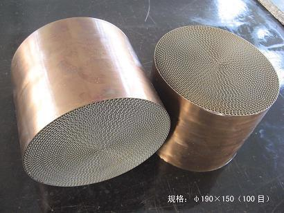 Metal Honeycomb Substrate Catalytic Converter for Auto/Motorcycle