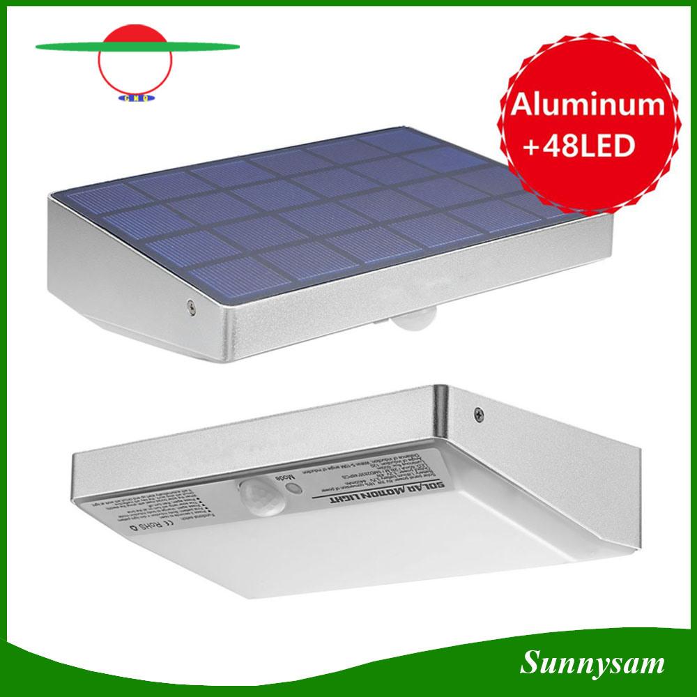 48 LED Solar Power LED Light IP65 Waterproof Garden Outdoor Motion Sensor Wall Light