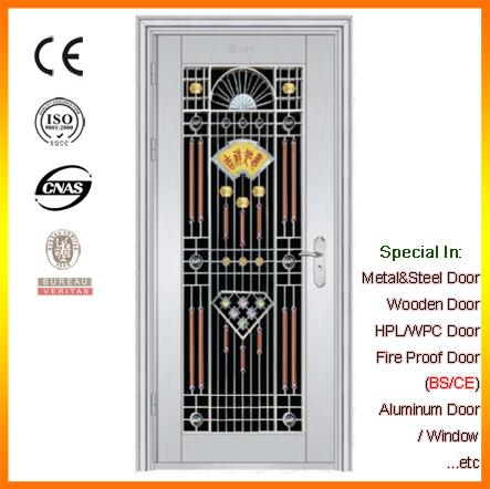 Stainless Steel Security Door Single Swing Door