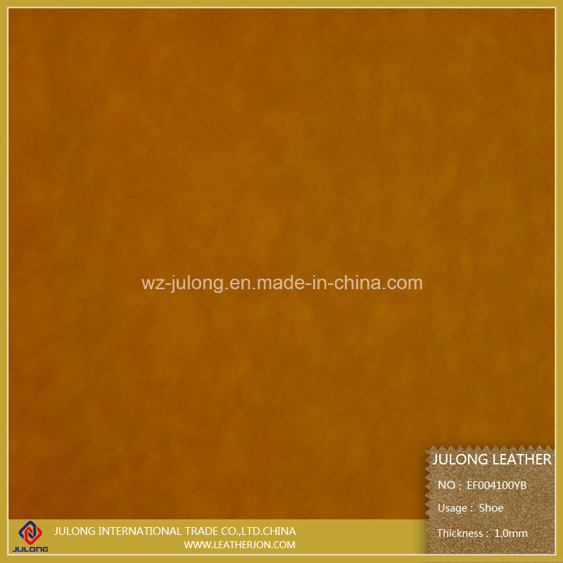 Waterborne Environmental-Protection Yangbuck PU Leather (EF004)
