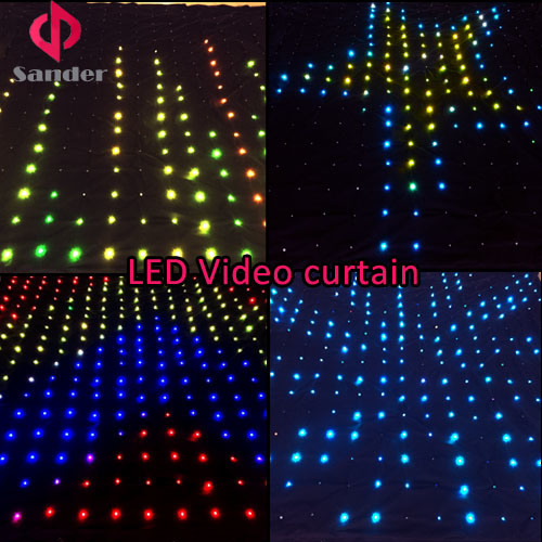 2016 Hot Festival LED Video Curtain for Band Show, Bar, Disco, Wet Party etc