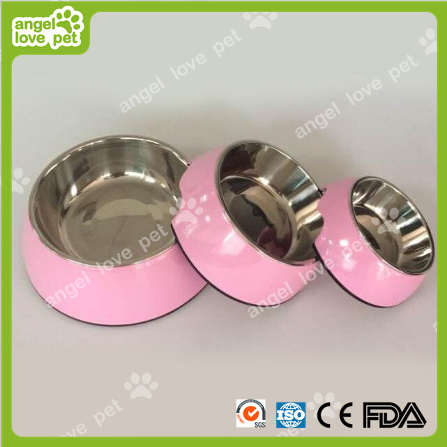 7 Color Concise Style Melamine&Stainless Steel Pet Dog Bowl