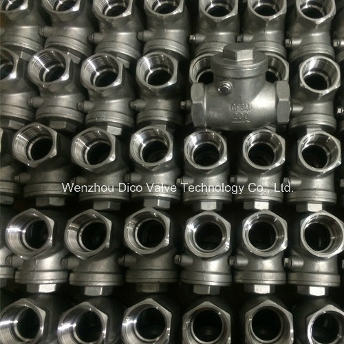 Stainless Steel Swing Check Valve with NPT Thread (H14W)