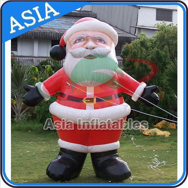 Gaint Advertising Standing Santa Claus Inflatable Balloon, Christmas Inflatable Santa Claus Cartoon