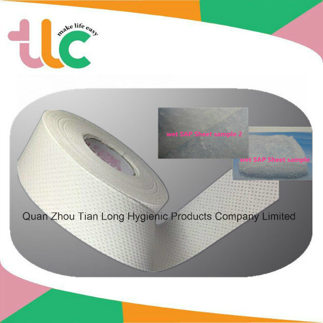 Sap Absorbent Paper for Raw Material for Sanitary Napkin