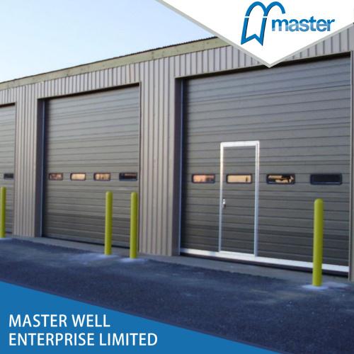 Galvanized Steel Industrial Sectional Overhead Garage Door / Automatic Garage Door